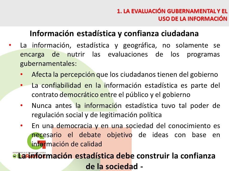 Información estadística y confianza ciudadana