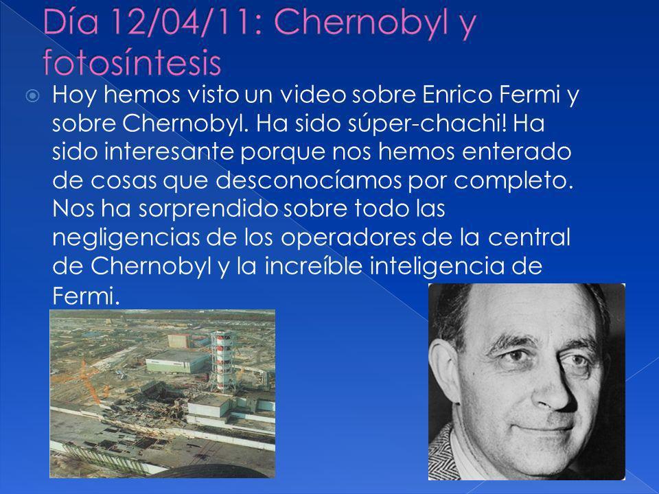 Día 12/04/11: Chernobyl y fotosíntesis