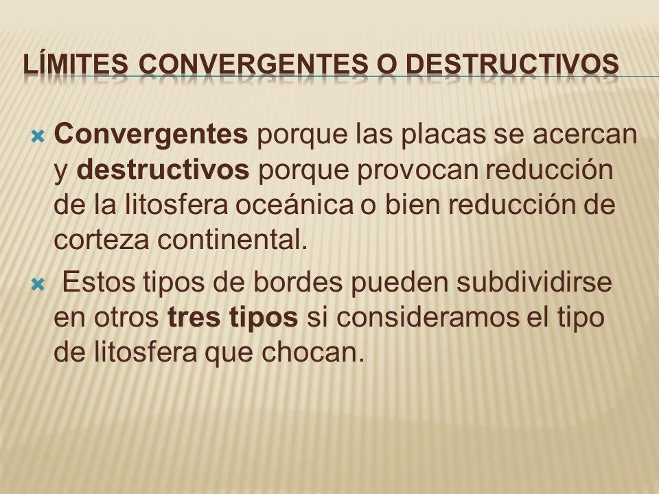 Límites convergentes o destructivos