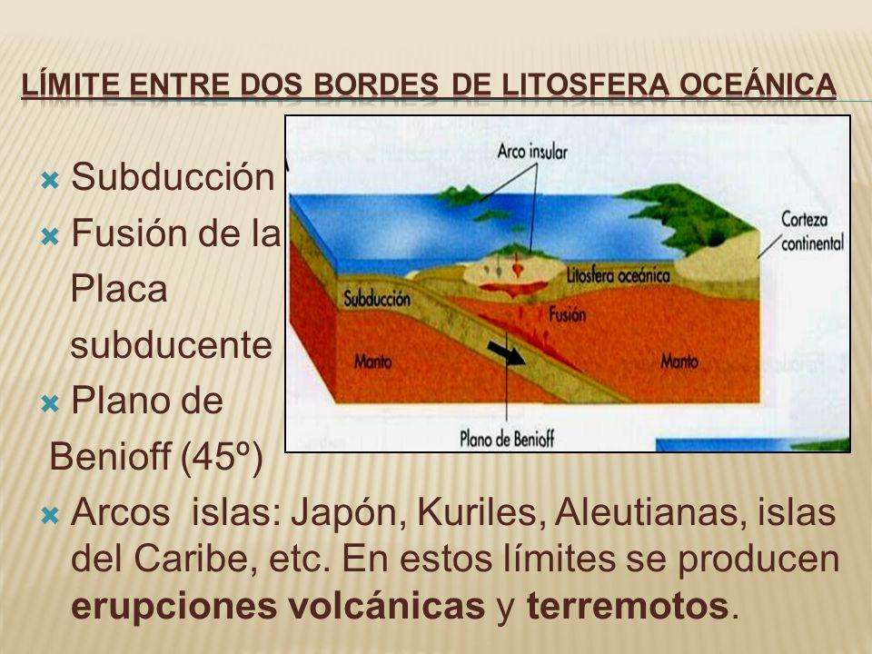 Límite entre dos bordes de litosfera oceánica