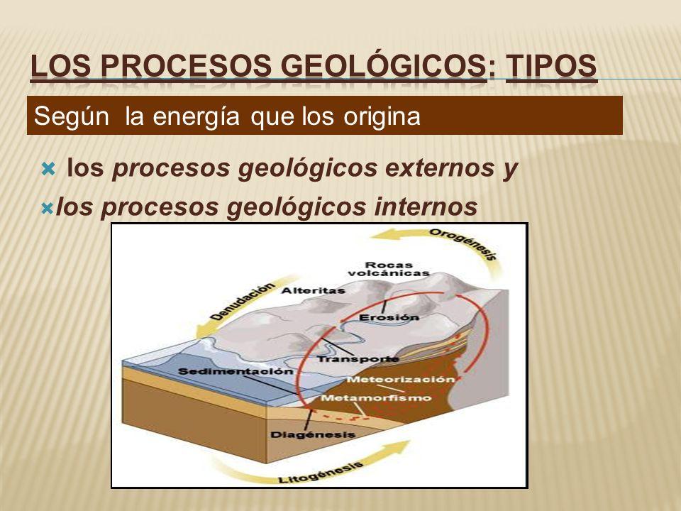 LOS PROCESOS GEOLÓGICOS: tipos