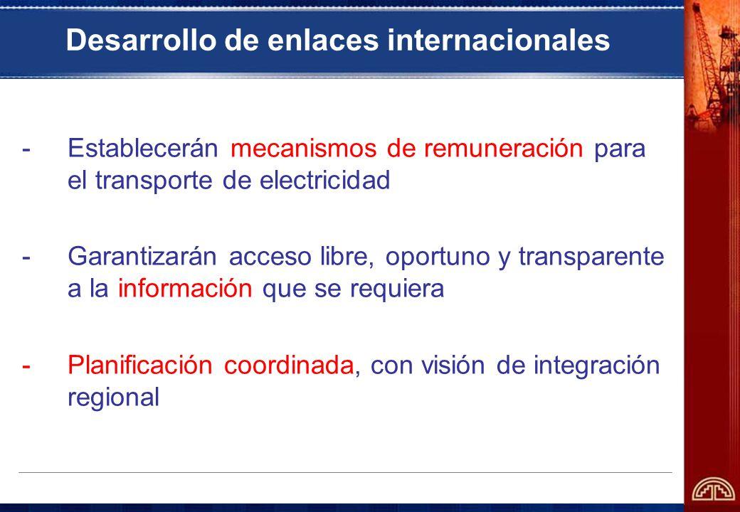 Desarrollo de enlaces internacionales