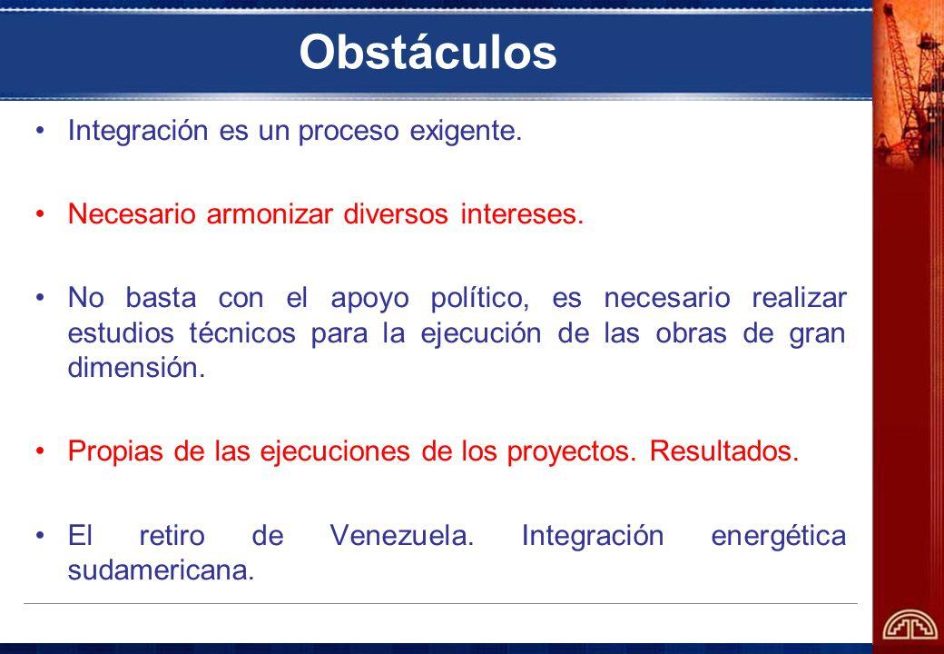Obstáculos Integración es un proceso exigente.