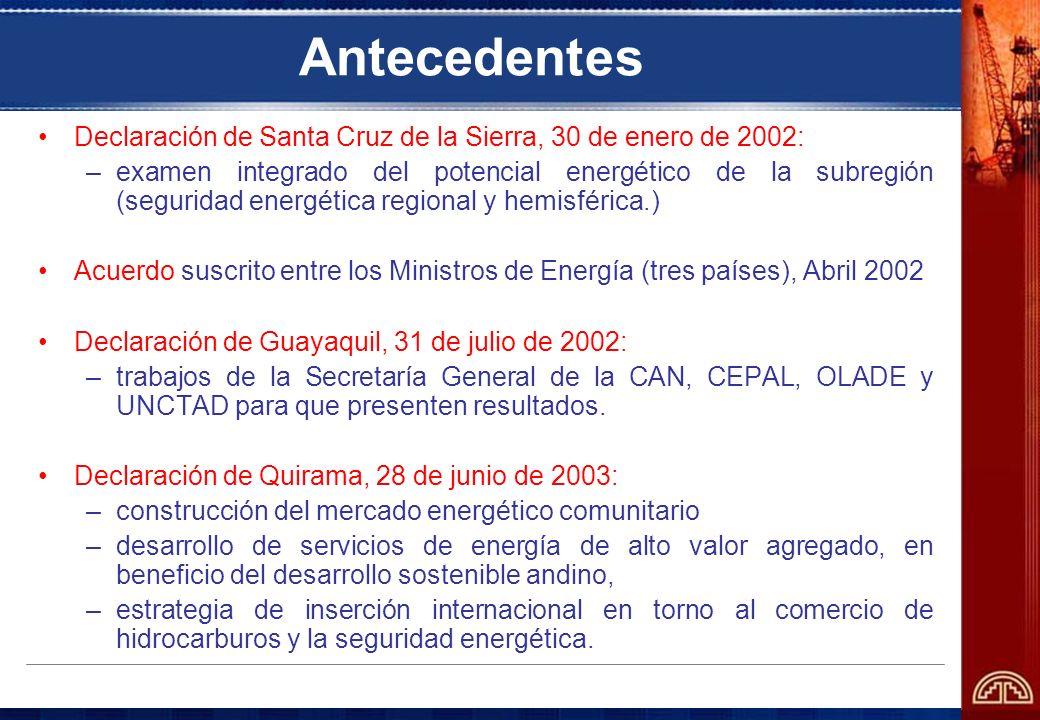 Antecedentes Declaración de Santa Cruz de la Sierra, 30 de enero de 2002: