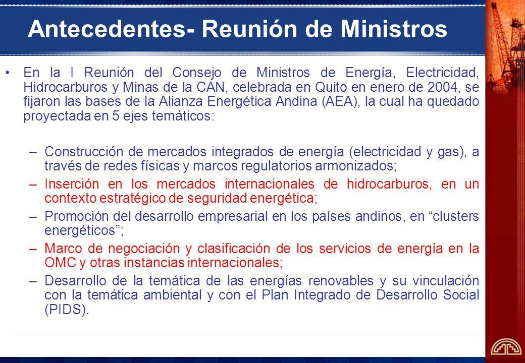 Antecedentes- Reunión de Ministros