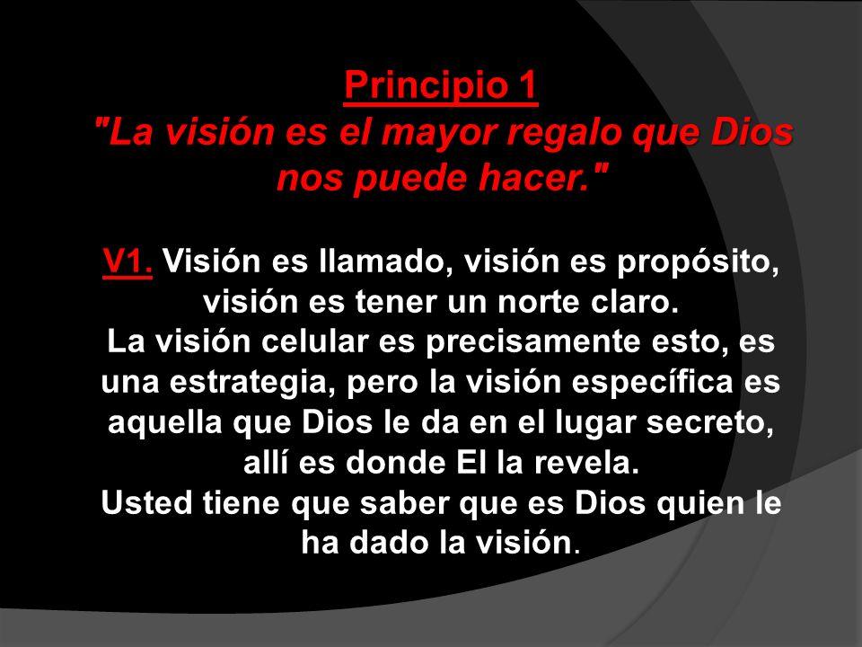 La visión es el mayor regalo que Dios nos puede hacer.