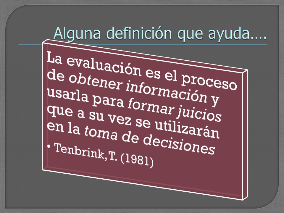 Alguna definición que ayuda….