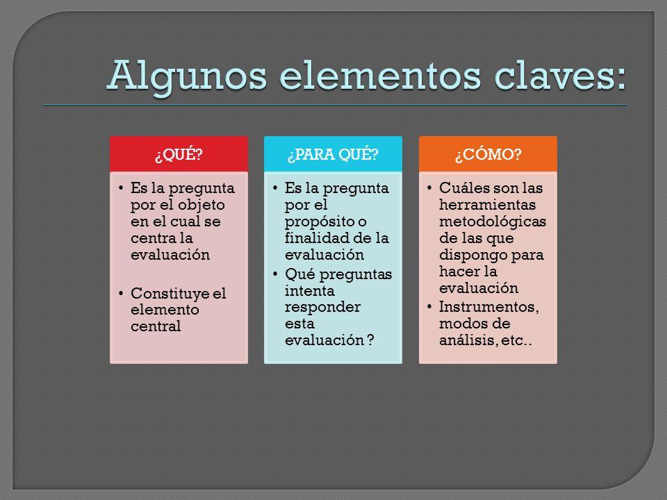 Algunos elementos claves: