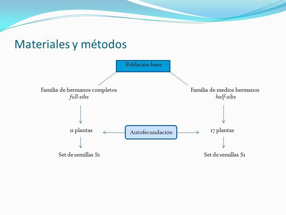 Materiales y métodos Población base Familia de hermanos completos