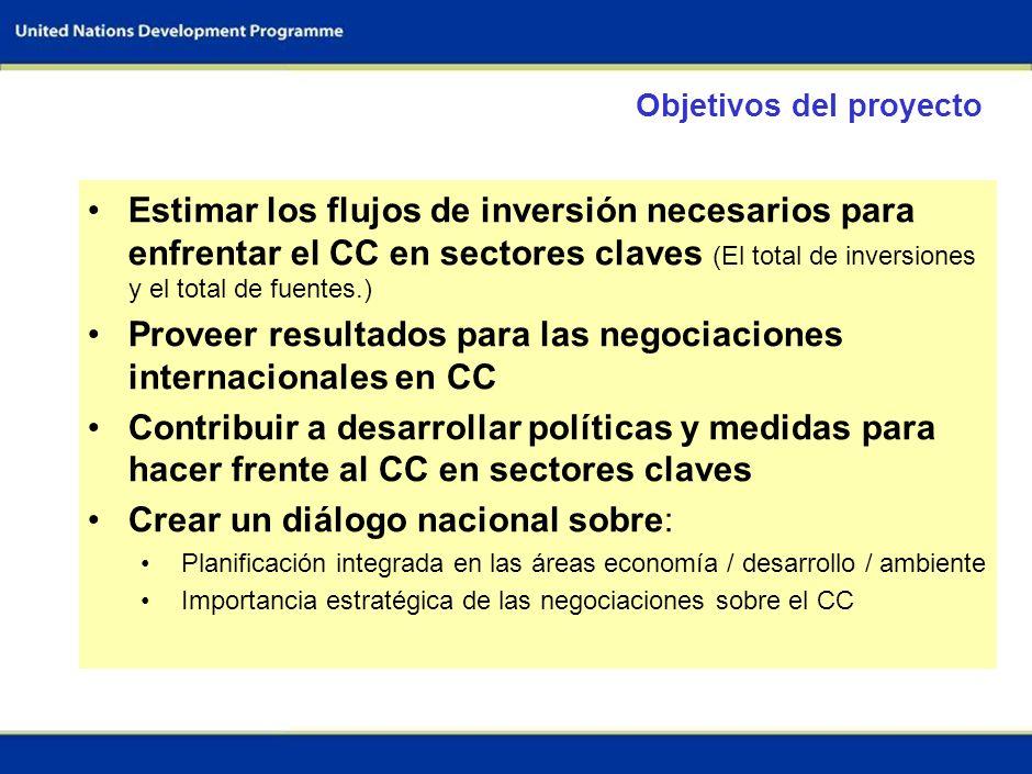Proveer resultados para las negociaciones internacionales en CC
