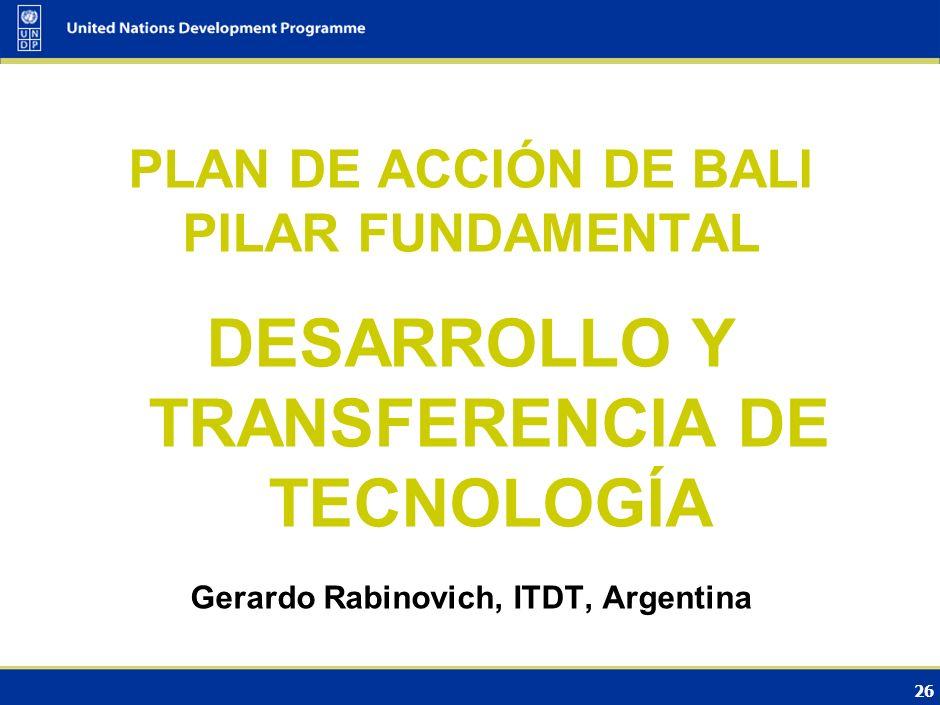 DESARROLLO Y TRANSFERENCIA DE TECNOLOGÍA