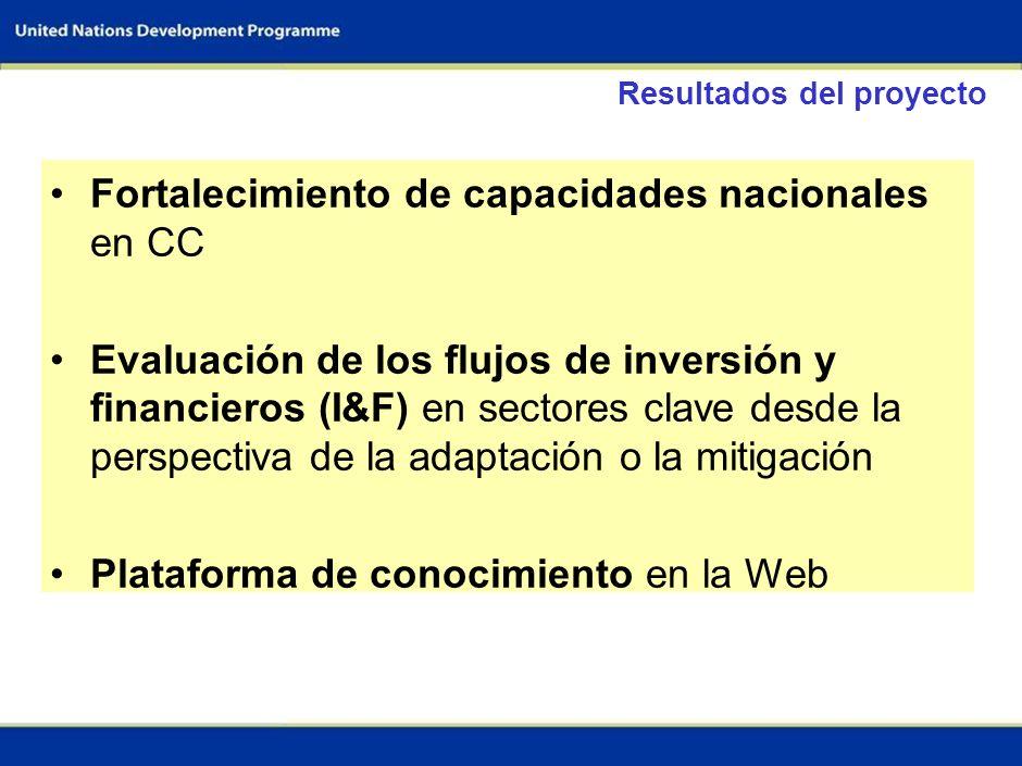 Fortalecimiento de capacidades nacionales en CC