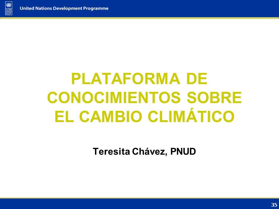 PLATAFORMA DE CONOCIMIENTOS SOBRE EL CAMBIO CLIMÁTICO