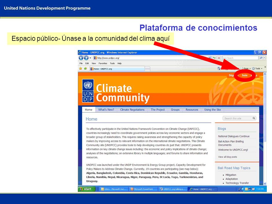 Espacio público- Únase a la comunidad del clima aquí