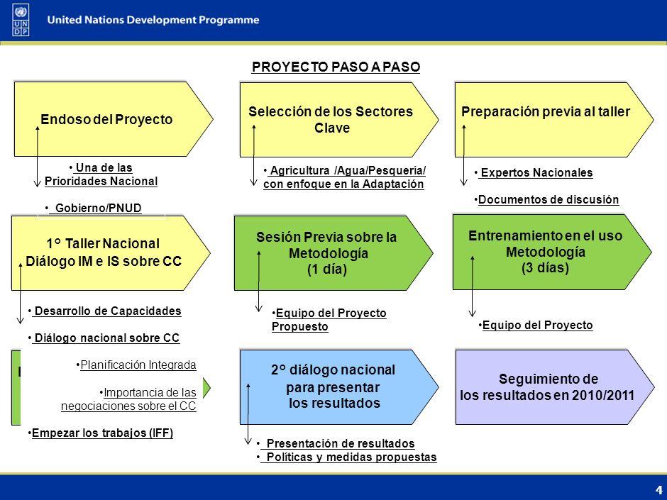 Selección de los Sectores Clave Preparación previa al taller