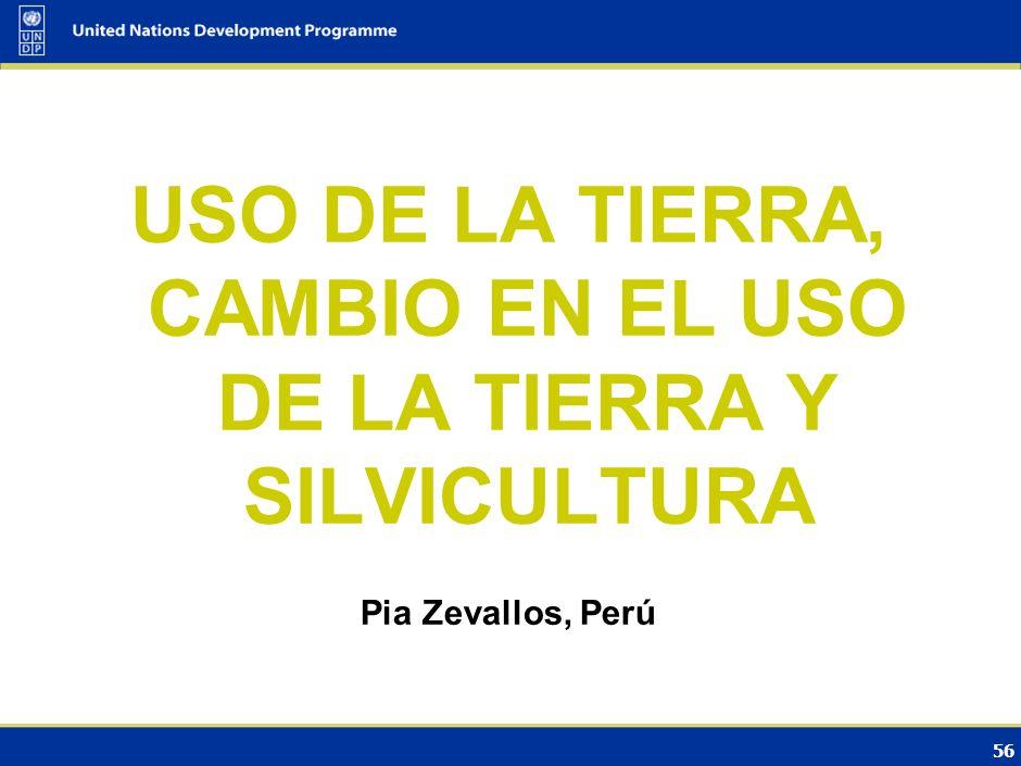 USO DE LA TIERRA, CAMBIO EN EL USO DE LA TIERRA Y SILVICULTURA