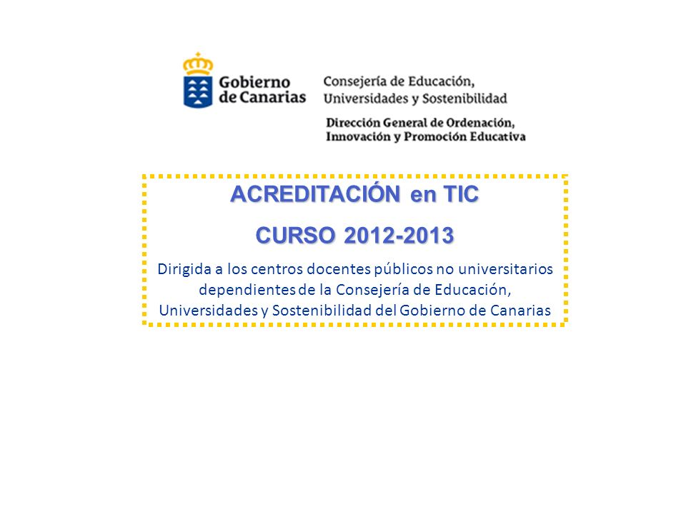 ACREDITACIÓN en TIC CURSO 2012-2013