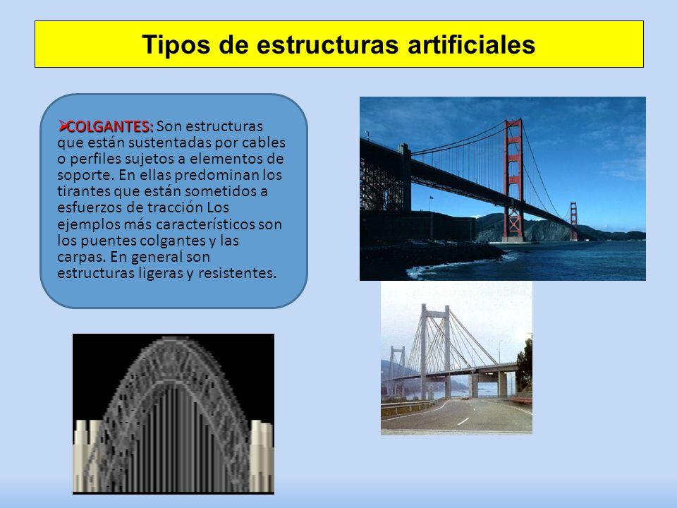 Tipos de estructuras artificiales