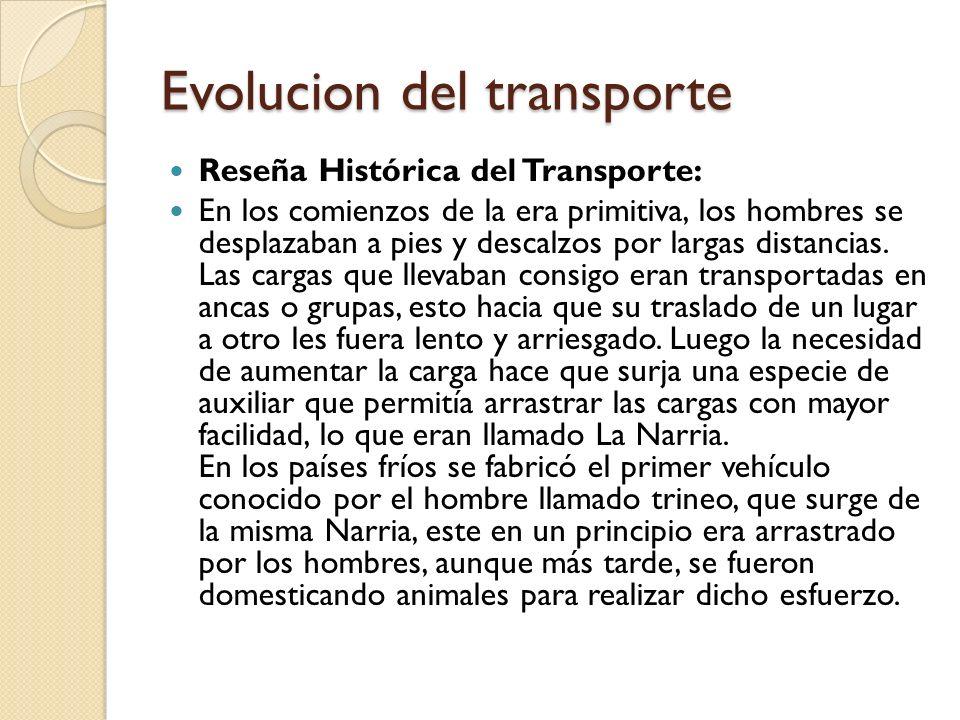 Evolucion del transporte