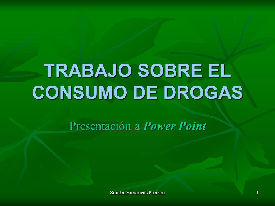 TRABAJO SOBRE EL CONSUMO DE DROGAS