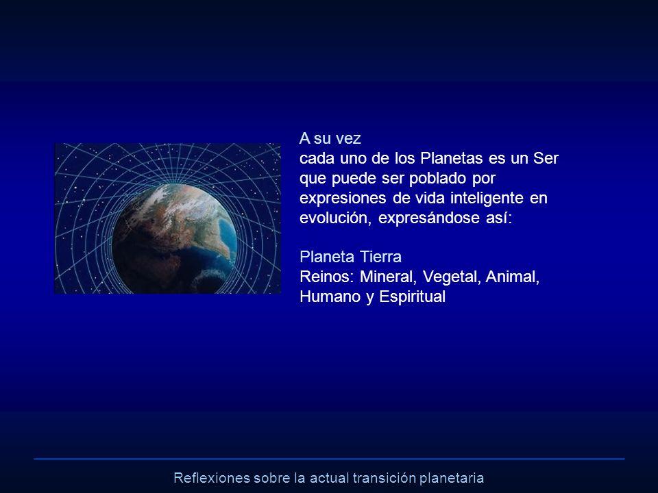 Reflexiones sobre la actual transición planetaria