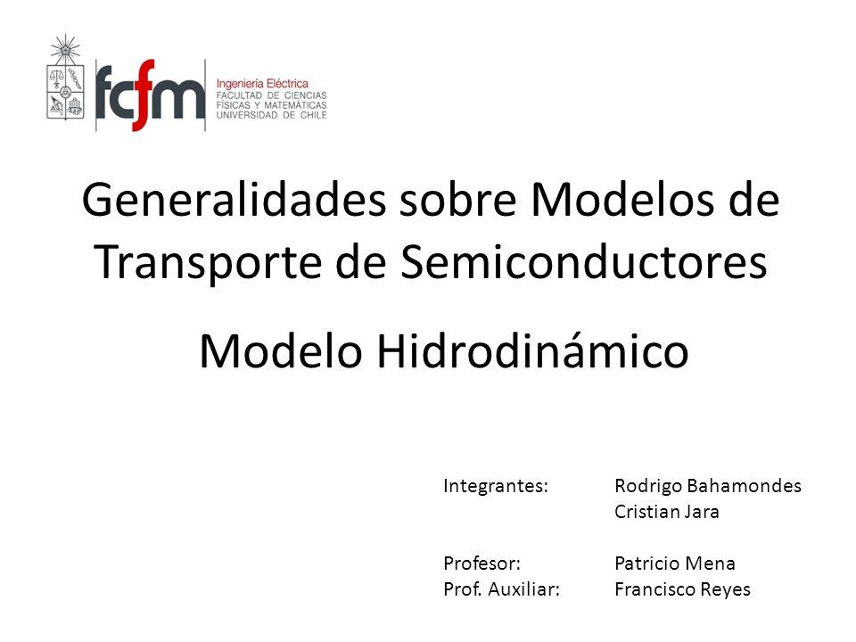 Generalidades sobre Modelos de Transporte de Semiconductores