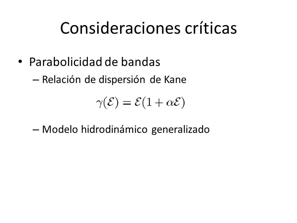 Consideraciones críticas