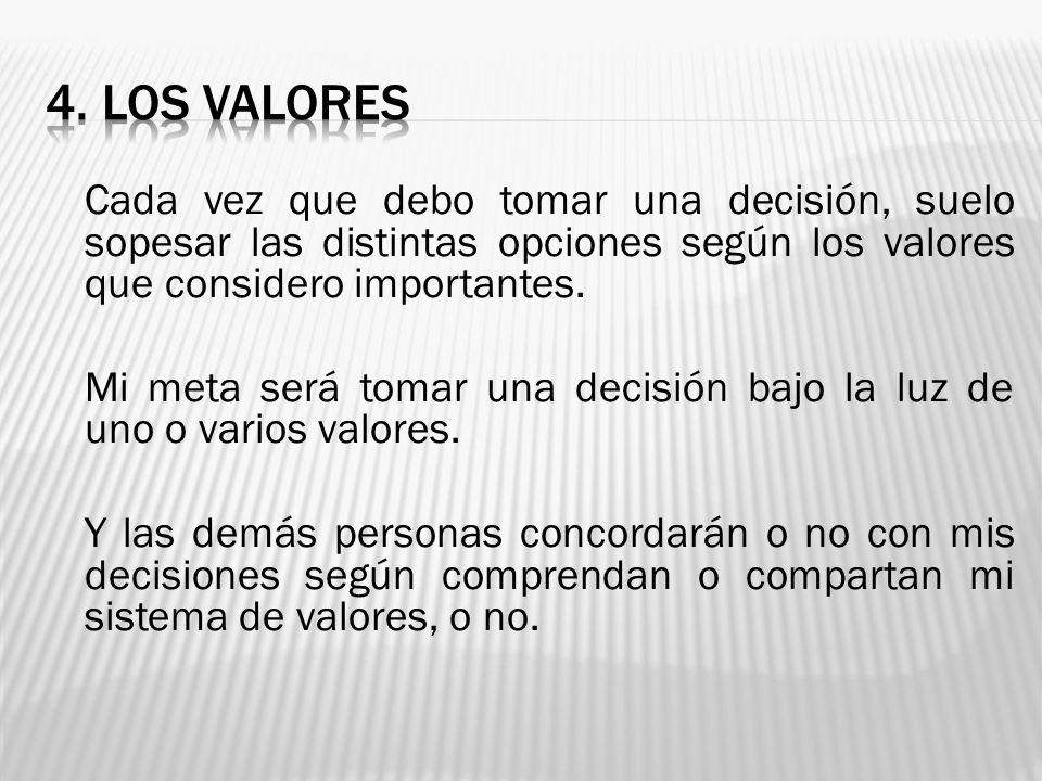 4. LOS VALORES