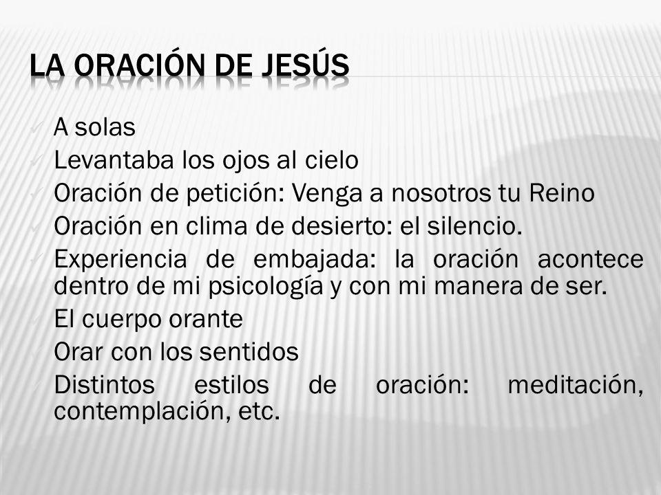 LA ORACIÓN DE JESÚS A solas Levantaba los ojos al cielo