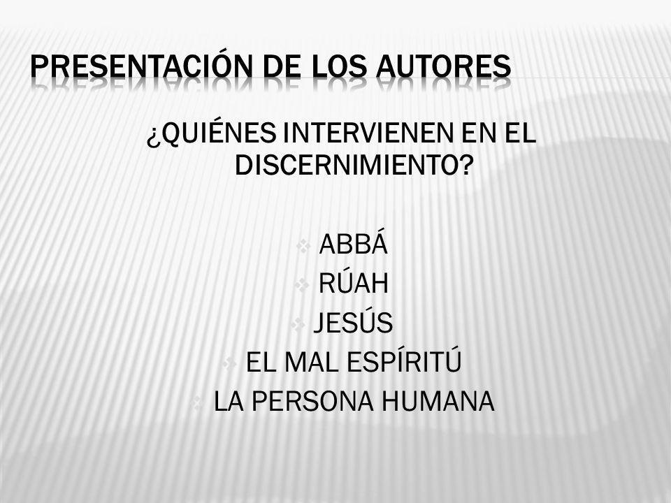 PRESENTACIÓN DE LOS AUTORES