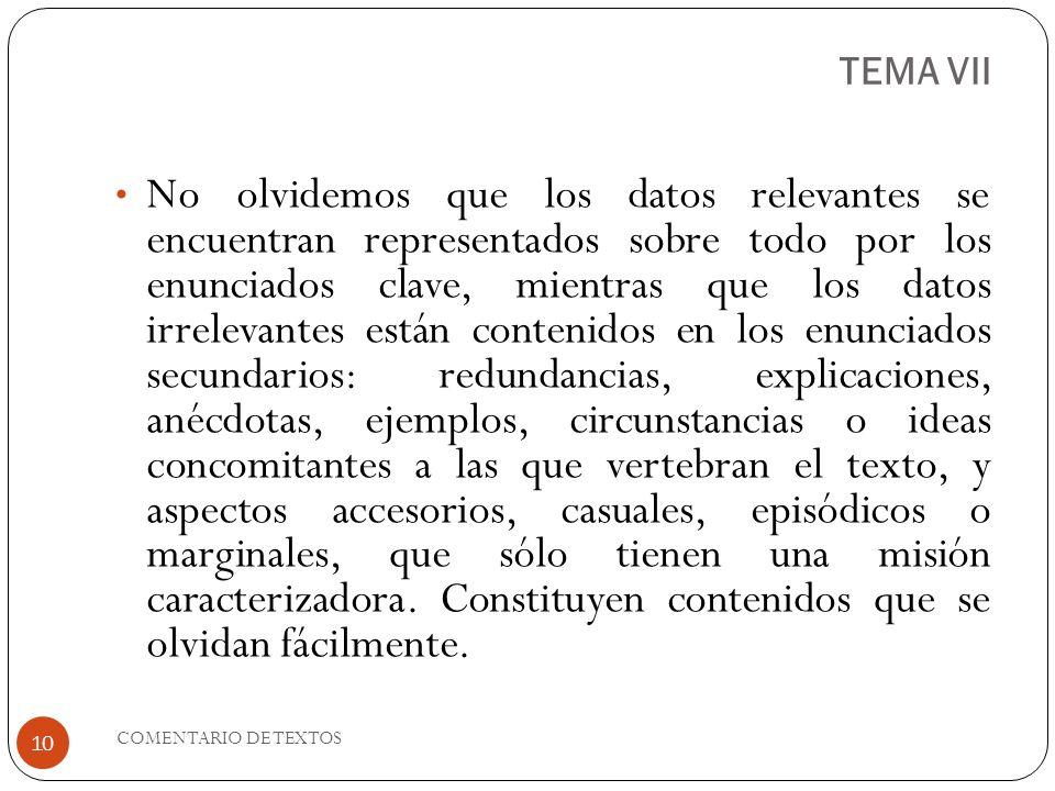 TEMA VII