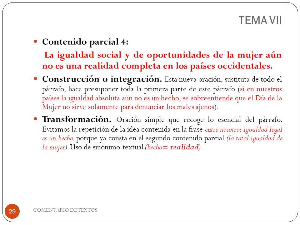 TEMA VII Contenido parcial 4: