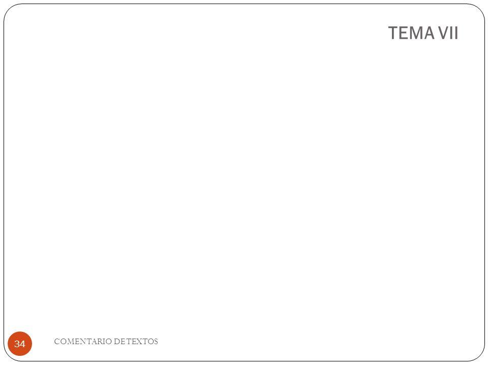 TEMA VII COMENTARIO DE TEXTOS