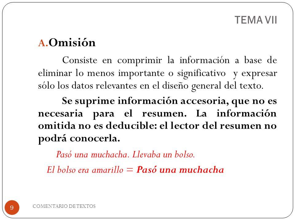 TEMA VII Omisión.