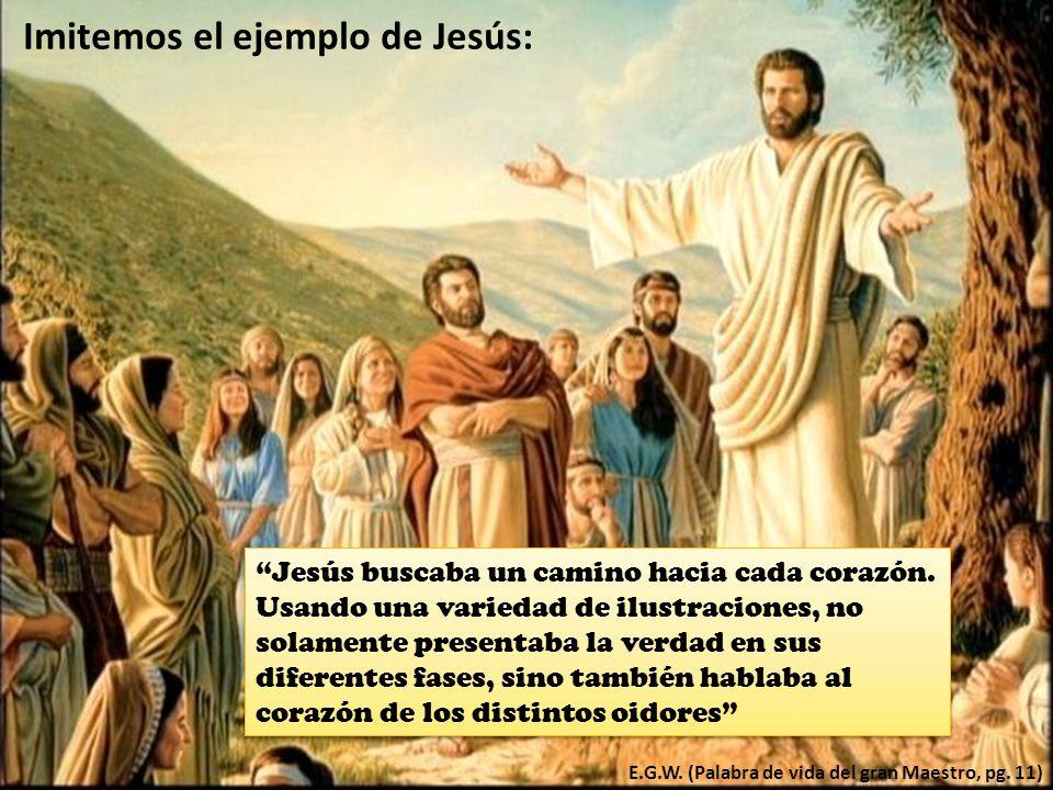 Imitemos el ejemplo de Jesús: