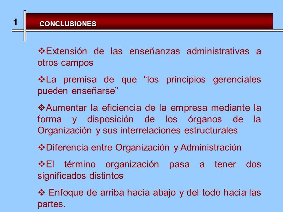 Extensión de las enseñanzas administrativas a otros campos