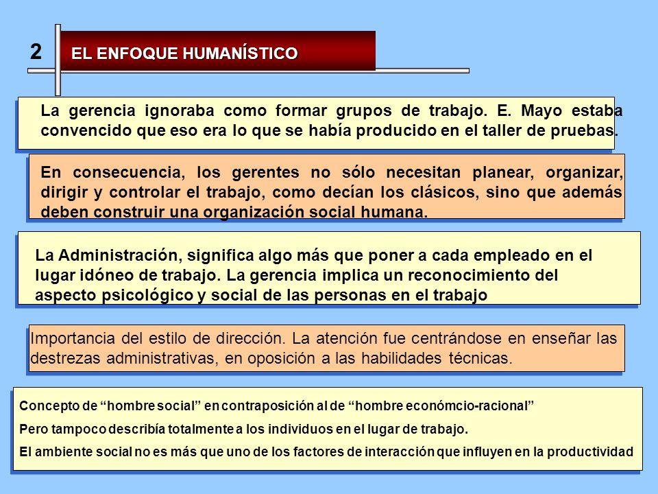 2 EL ENFOQUE HUMANÍSTICO