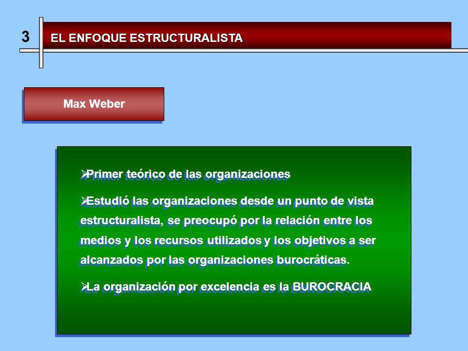 3 EL ENFOQUE ESTRUCTURALISTA Max Weber