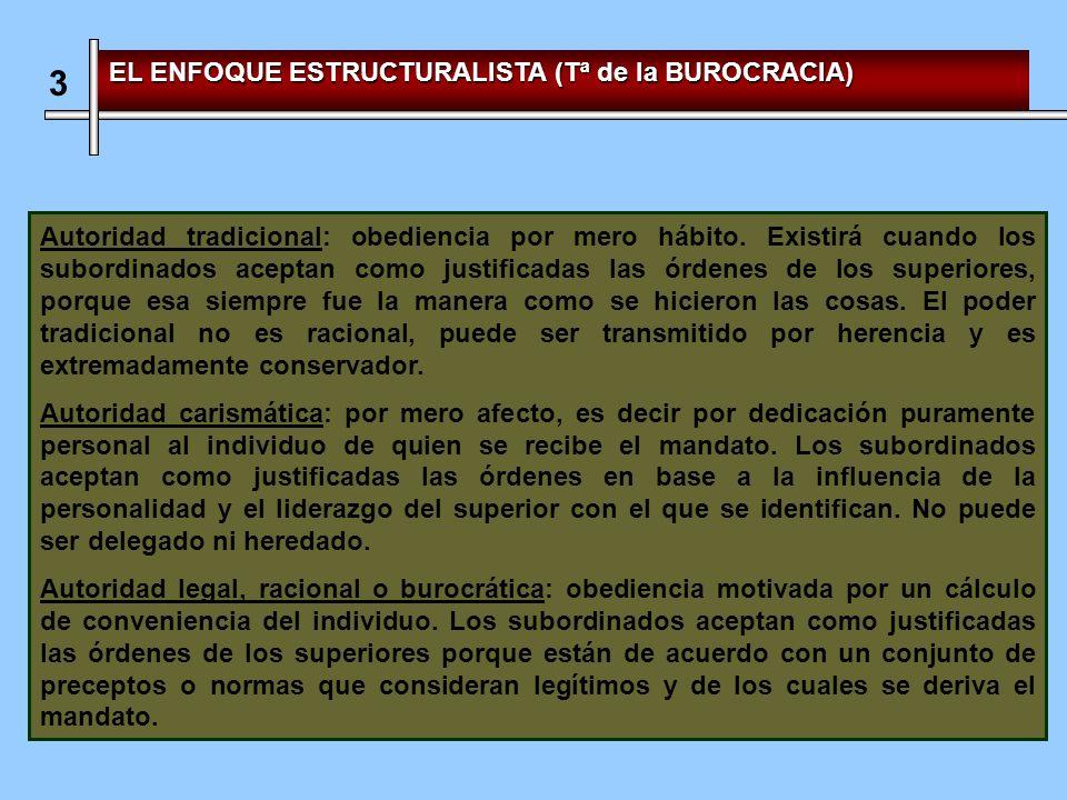 3 EL ENFOQUE ESTRUCTURALISTA (Tª de la BUROCRACIA)