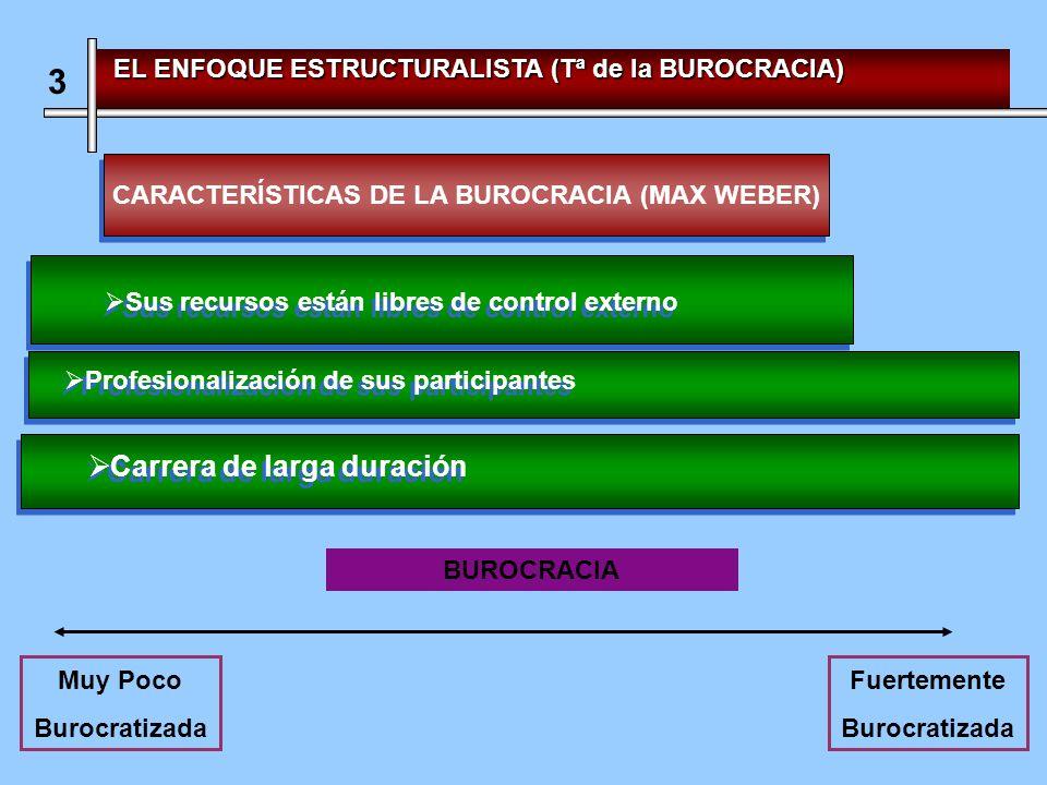 CARACTERÍSTICAS DE LA BUROCRACIA (MAX WEBER)