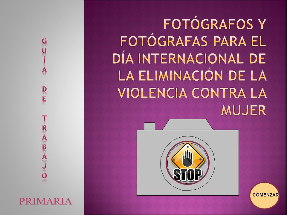 Fotógrafos y fotógrafas para el Día Internacional de la Eliminación de la Violencia contra la Mujer