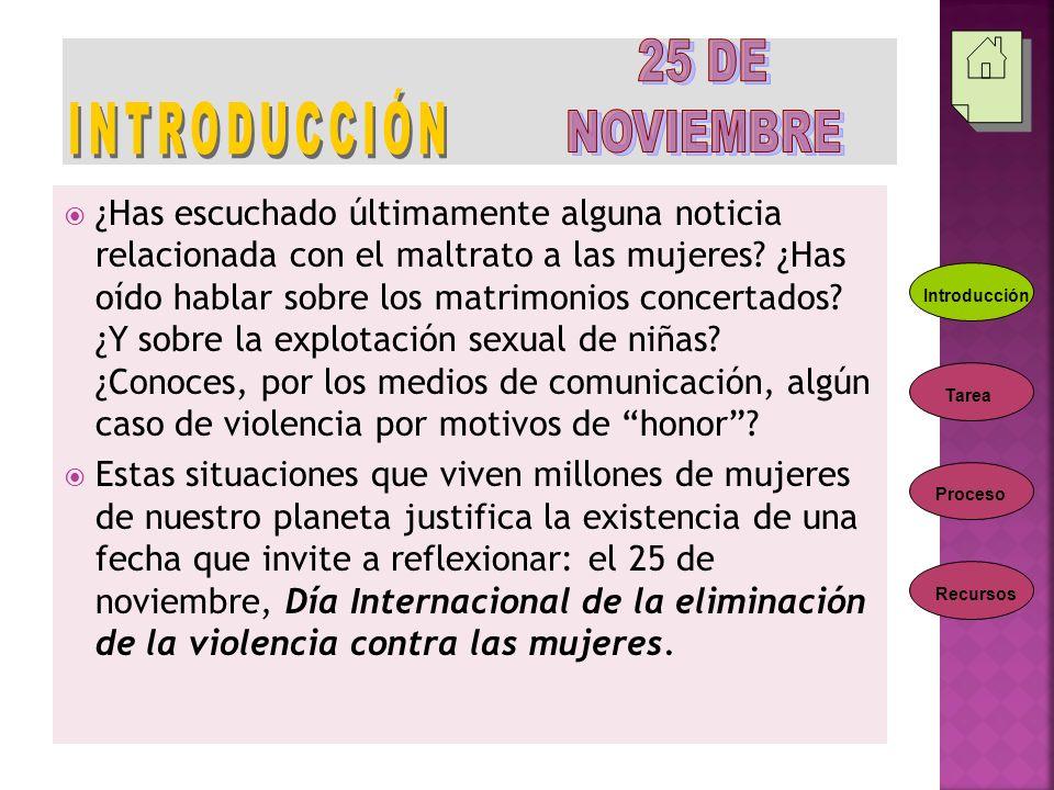 INTRODUCCIÓN 25 DE NOVIEMBRE