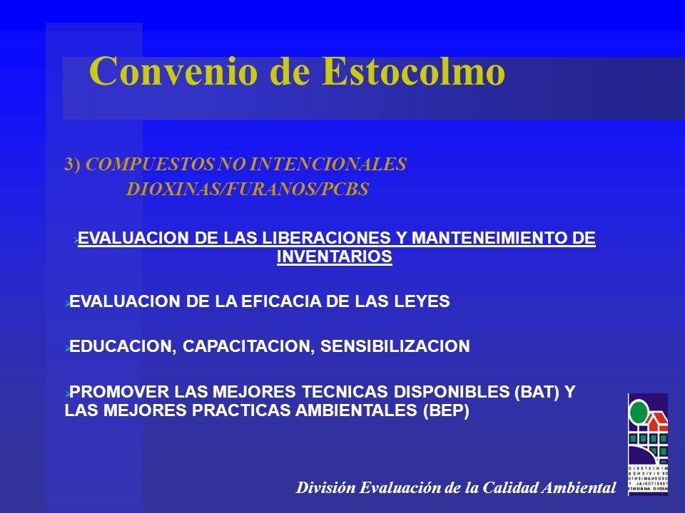 EVALUACION DE LAS LIBERACIONES Y MANTENEIMIENTO DE INVENTARIOS