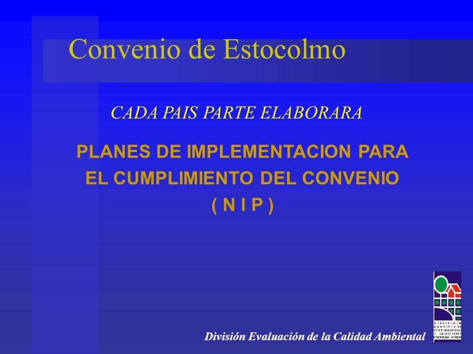 PLANES DE IMPLEMENTACION PARA EL CUMPLIMIENTO DEL CONVENIO