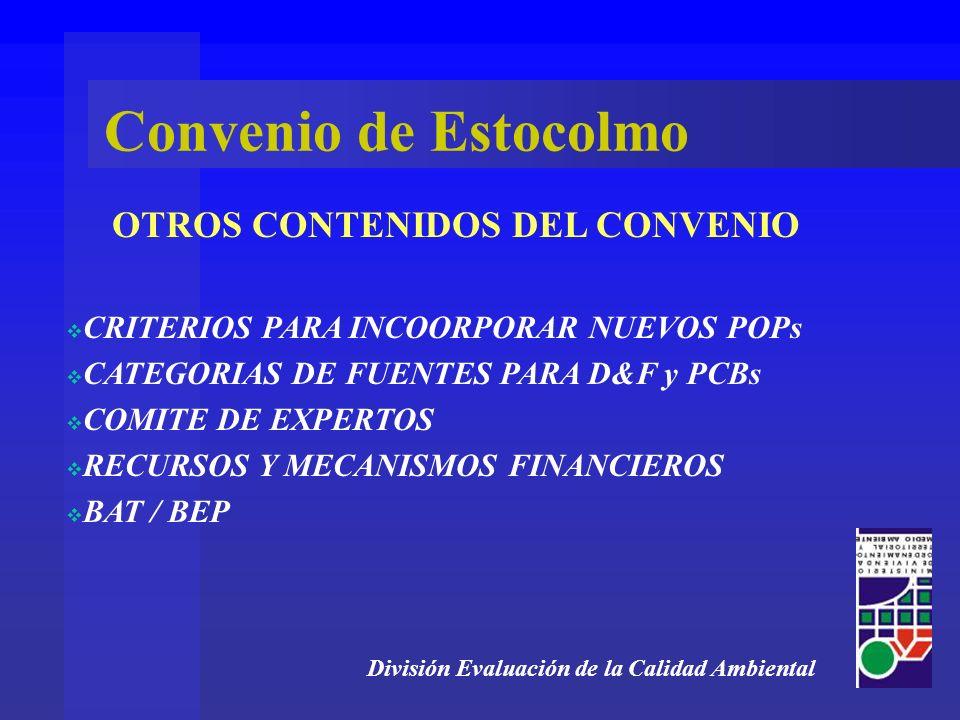 OTROS CONTENIDOS DEL CONVENIO
