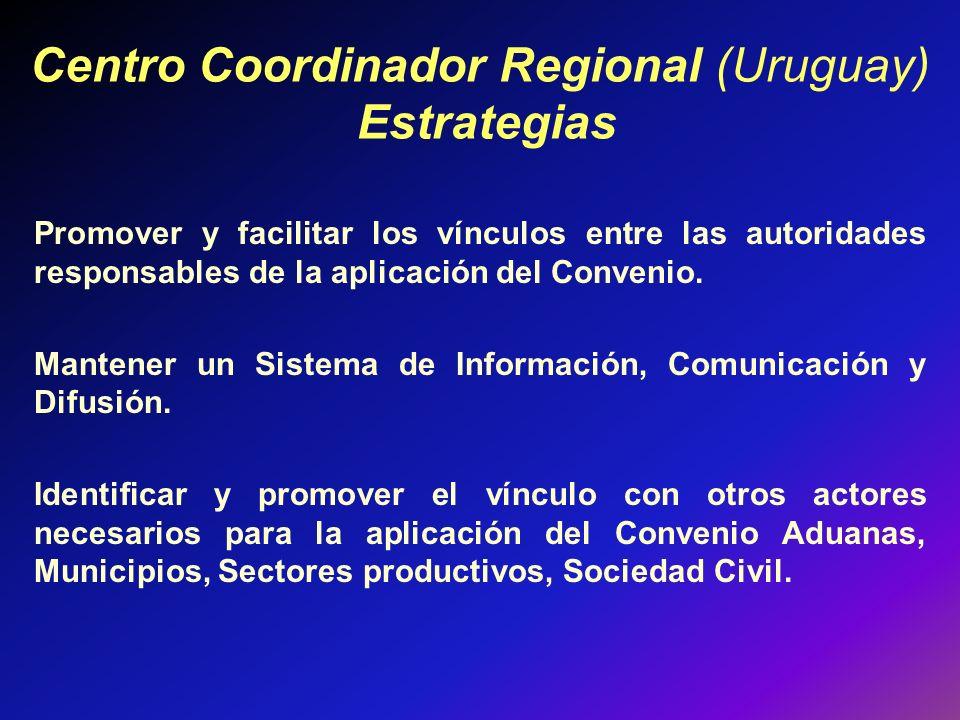 Centro Coordinador Regional (Uruguay) Estrategias
