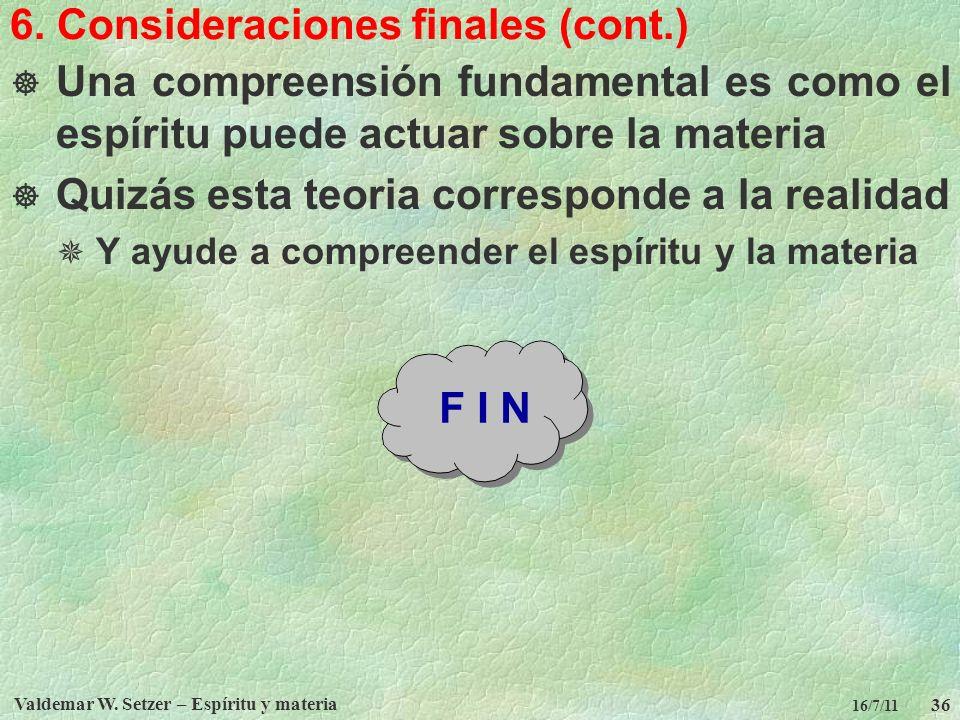 6. Consideraciones finales (cont.)