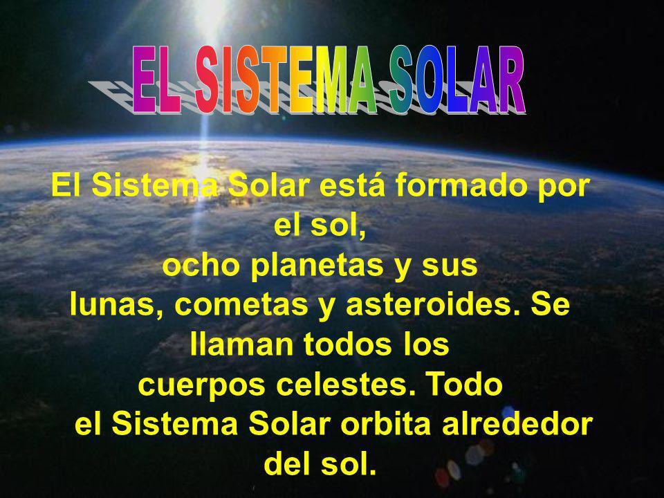 El Sistema Solar está formado por el sol, ocho planetas y sus