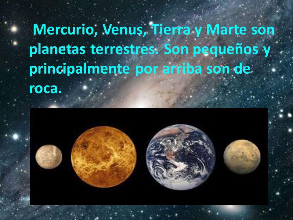 Mercurio, Venus, Tierra y Marte son planetas terrestres