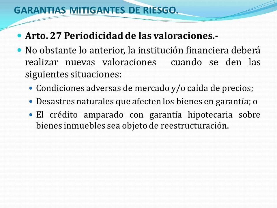 GARANTIAS MITIGANTES DE RIESGO.